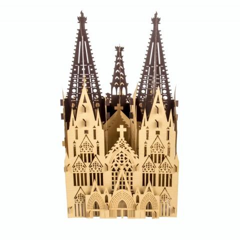 """3D Pop Up Deko Aufsteller """"Kölner Dom"""" - Geschenk"""