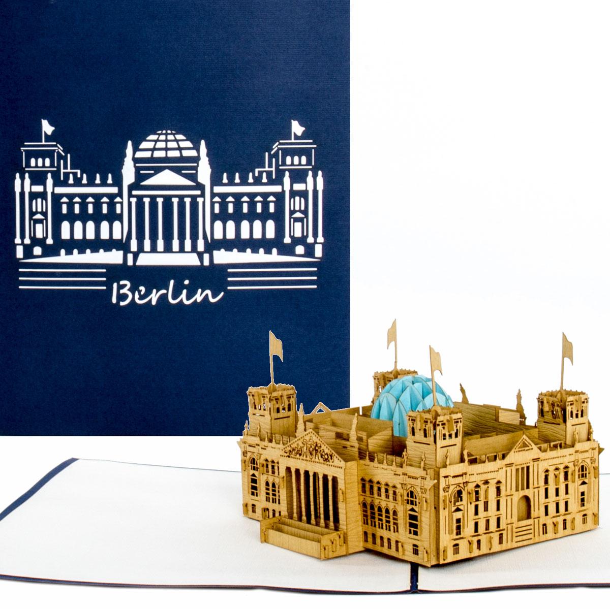 """Pop Up Karte """"Berlin - Reichstag"""" - Reisegutschein, Geldgeschenk"""