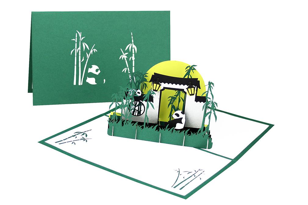 """Pop Up Karte """"Panda"""" - Geburtstagskarte, Gutschein, Einladungskarte in den Zoo"""
