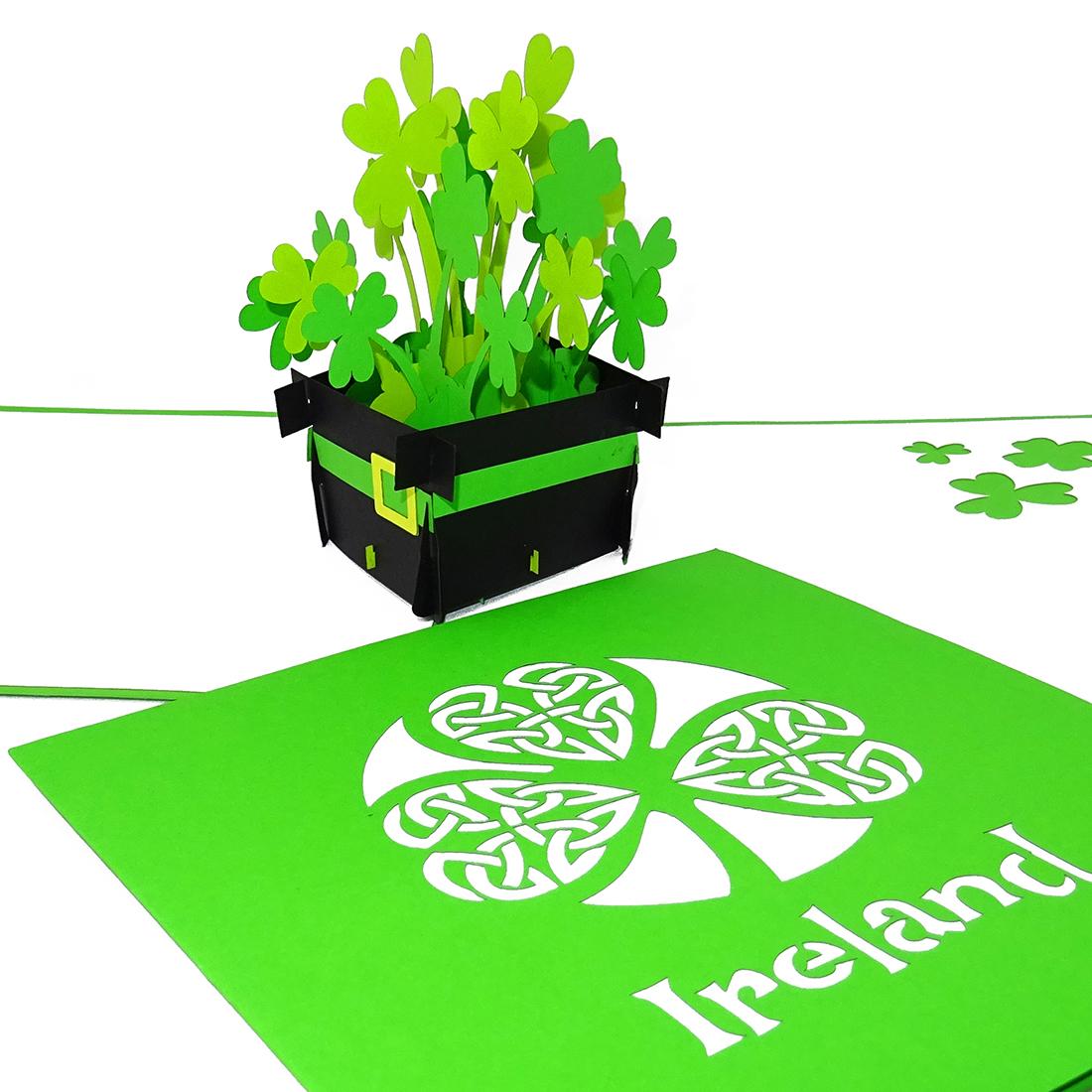 """Pop Up Karte """"Irland"""" - Souvenir, Grusskarte, Reisegutschein"""