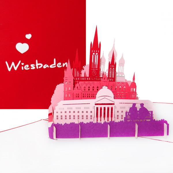 """Pop-Up Karte """"Wiesbaden"""" - Grußkarte, Gutschein"""