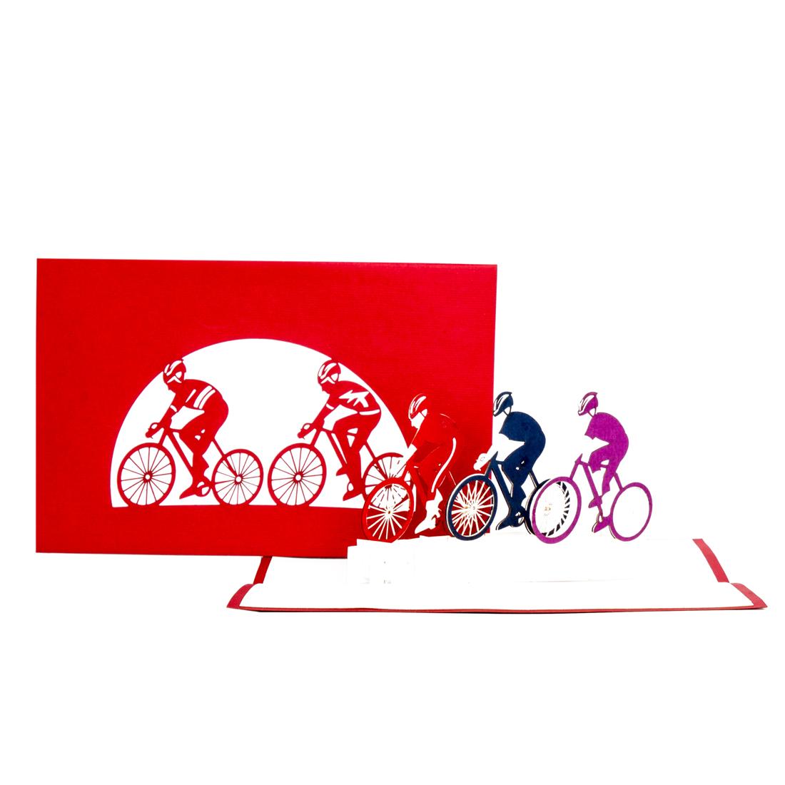 """3D Karte """"Fahrrad Tour"""" - Gutschein, Geburtstagskarte"""
