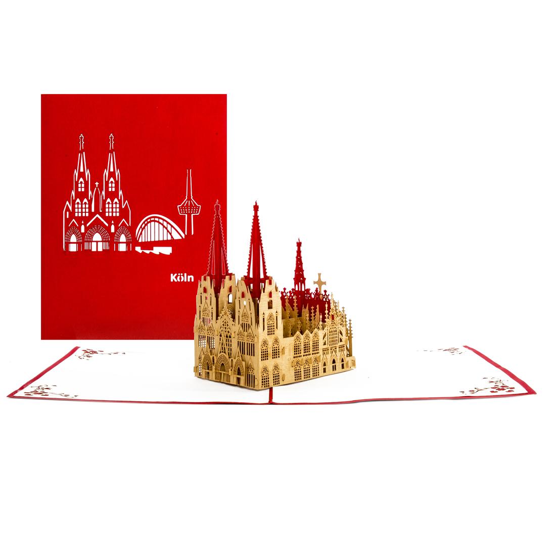 """Pop Up Karte """"Kölner Dom"""" - Souvenir, 3D Postkarte"""