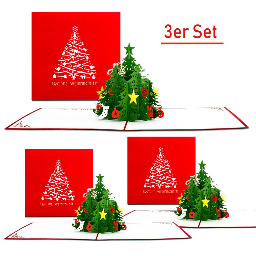 """Weihnachtskarten 3er-Set """"Tannenbaum - Classic"""""""