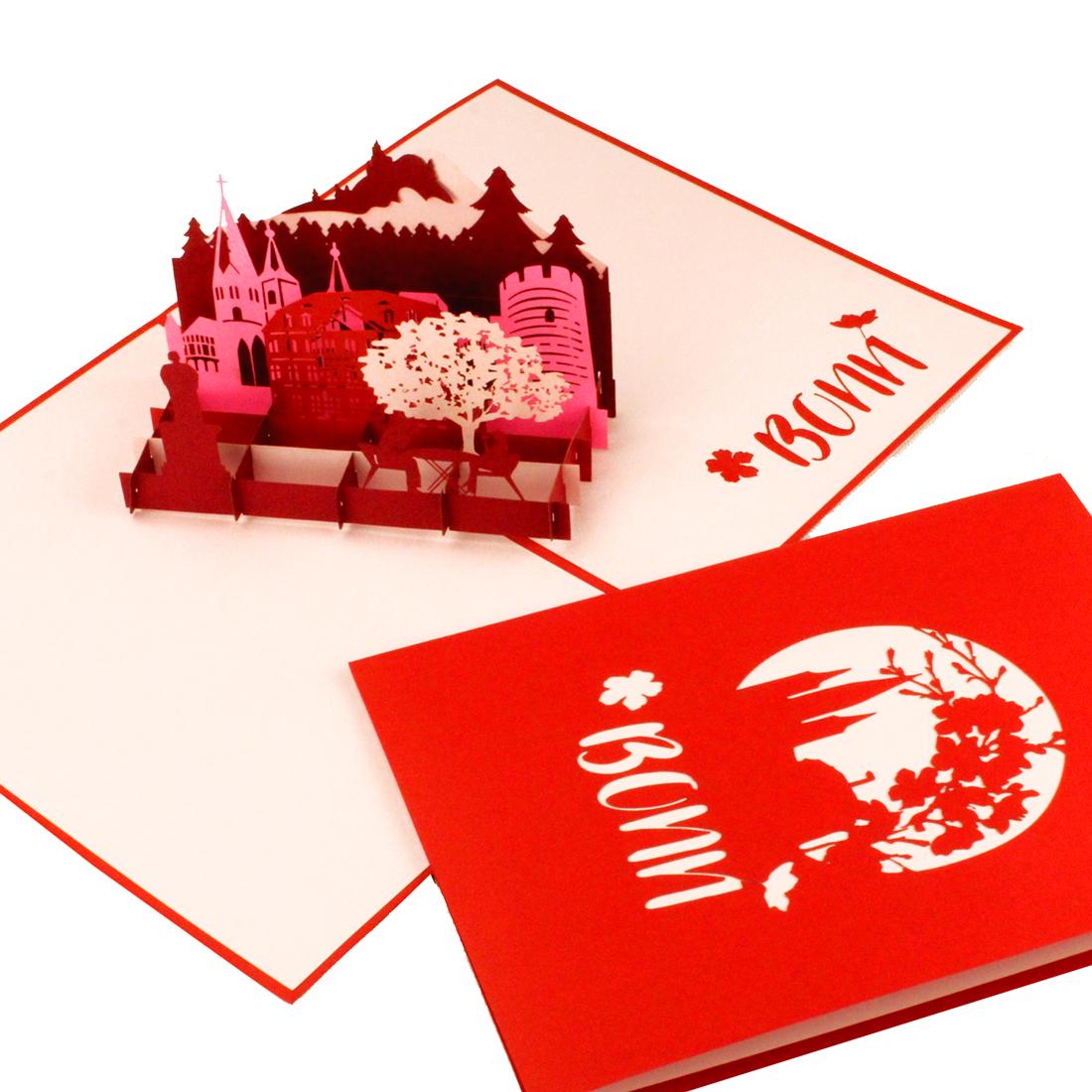 """3D Grusskarte mit Stadtmotiv """"Bonn"""" - Geschenkkarte, Gutschein"""