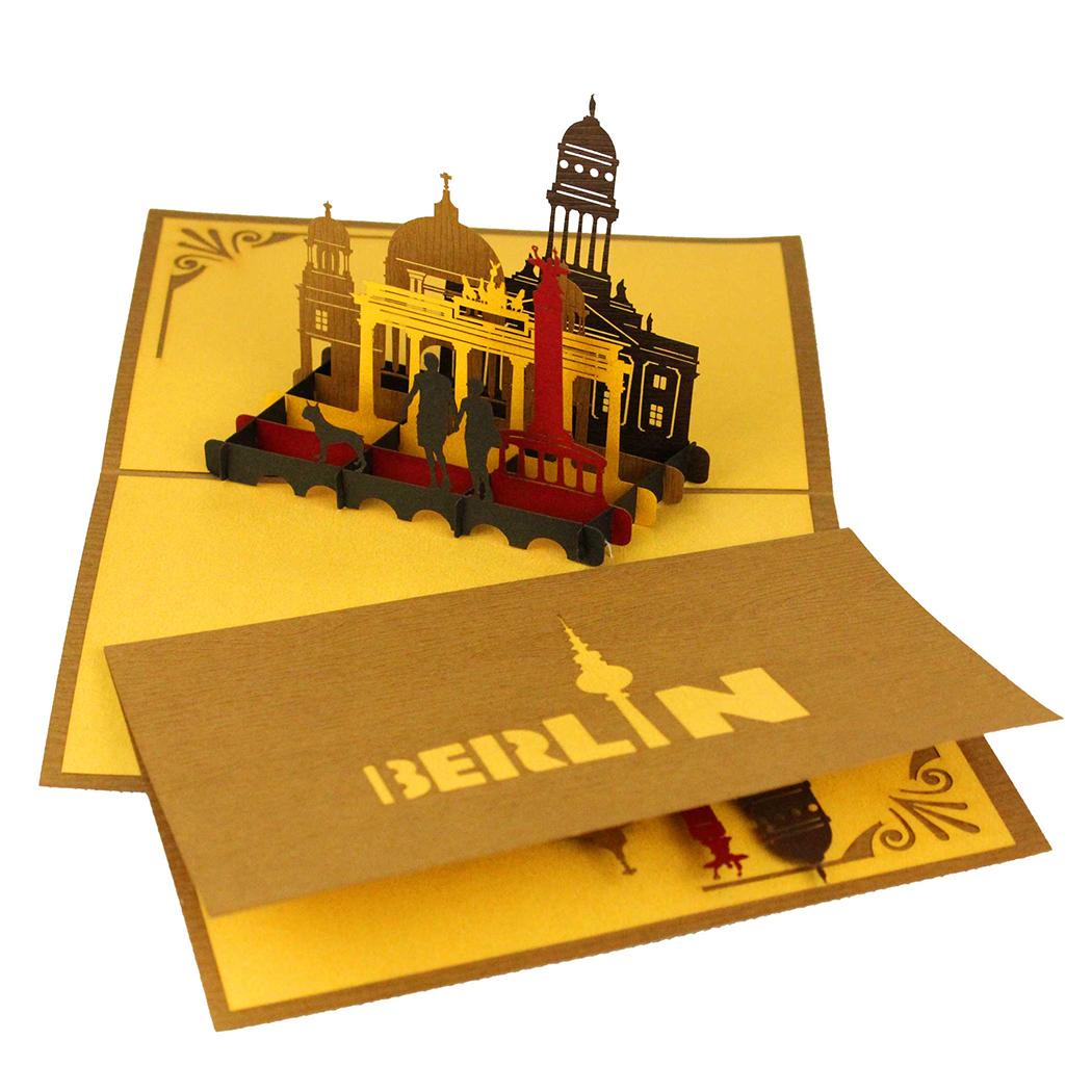 "3D Karte ""Berlin Skyline"" - Grußkarte, Souvenir, Geldgeschenk Urlaubskasse"