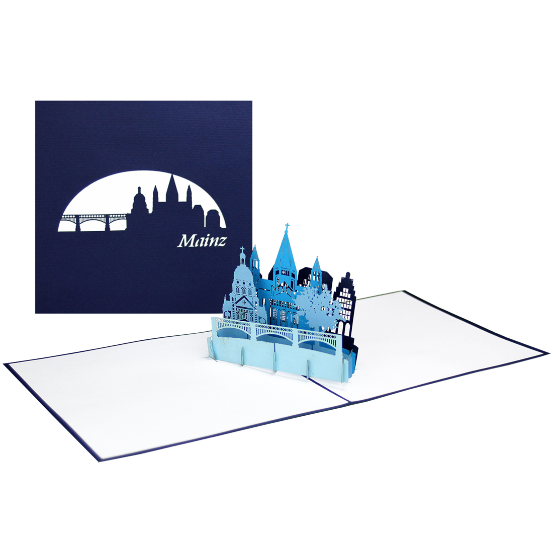 "Pop Up Karte ""Mainz"" - Souvenir, Geburtstagskarte. Grusskarte"
