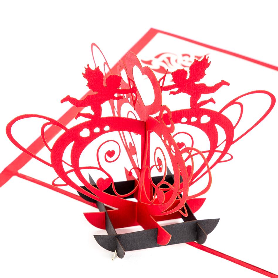 """3D Verlobungskarte """"Amor"""" - Karte zur Verlobung"""
